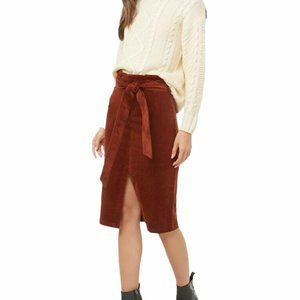 Forever 21 Brown Suede Material Pencil Skirt